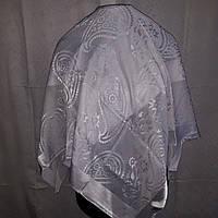 Свадебный шелковый платок белый 100*100
