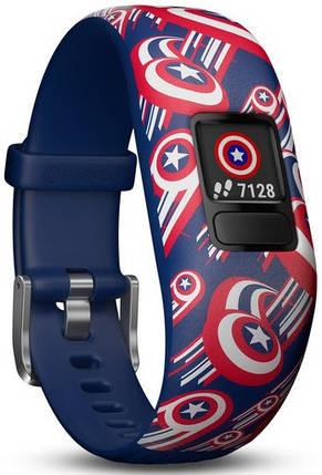 Фітнес-браслет Garmin Vivofit JR 2 Marvel Captain America Adjustable Band, фото 2