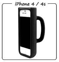 Чехол (силикон) 3D для iPhone 4/4S. Модель: КРУЖКА Taylor Mug. Цвет: черный.