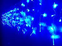 Гирлянда светодиодная Бахрома LED синий 108 л. 2.2x0.5 м (8 режимов)