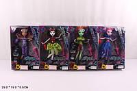"""Кукла """"Monster High""""Electrified"""" 4 вида, с зонтом,сумкой, шарнирные, в кор. 29*19*5,5см /72/(516)"""