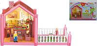 Домик, фигурки, столик, диван, кресла, камин, балкон..., в кор.16,5*22*39,5см  (48шт)(OS951)