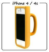 Чехол (силикон) 3D для iPhone 4/4S. Модель: КРУЖКА Taylor Mug. Цвет: желтый.