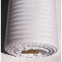 Копия Ткань Турция сатин страйп 1*1 белый 240 ширина
