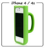 Чехол (силикон) 3D для iPhone 4/4S. Модель: КРУЖКА Taylor Mug. Цвет: зеленый.