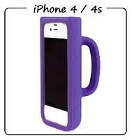 Чехол (силикон) 3D для iPhone 4/4S. Модель: КРУЖКА Taylor Mug. Цвет: фиолетовый.