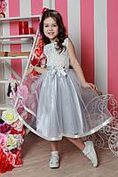 Красивое праздничное белое  для девочки 025.1