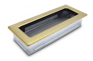 Решетка каминная 11х25 золото, вентиляционная для камина, декоративная