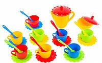 Набор игрушечной посуды Ромашка в сумке 28 элементов