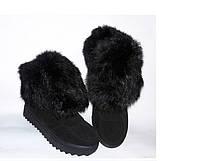Женские зимние ботинки натуральная замша