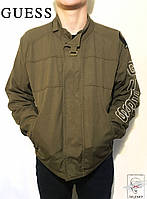 Мужская демисезонная куртка GUESS Оригинал коричневая брендовая