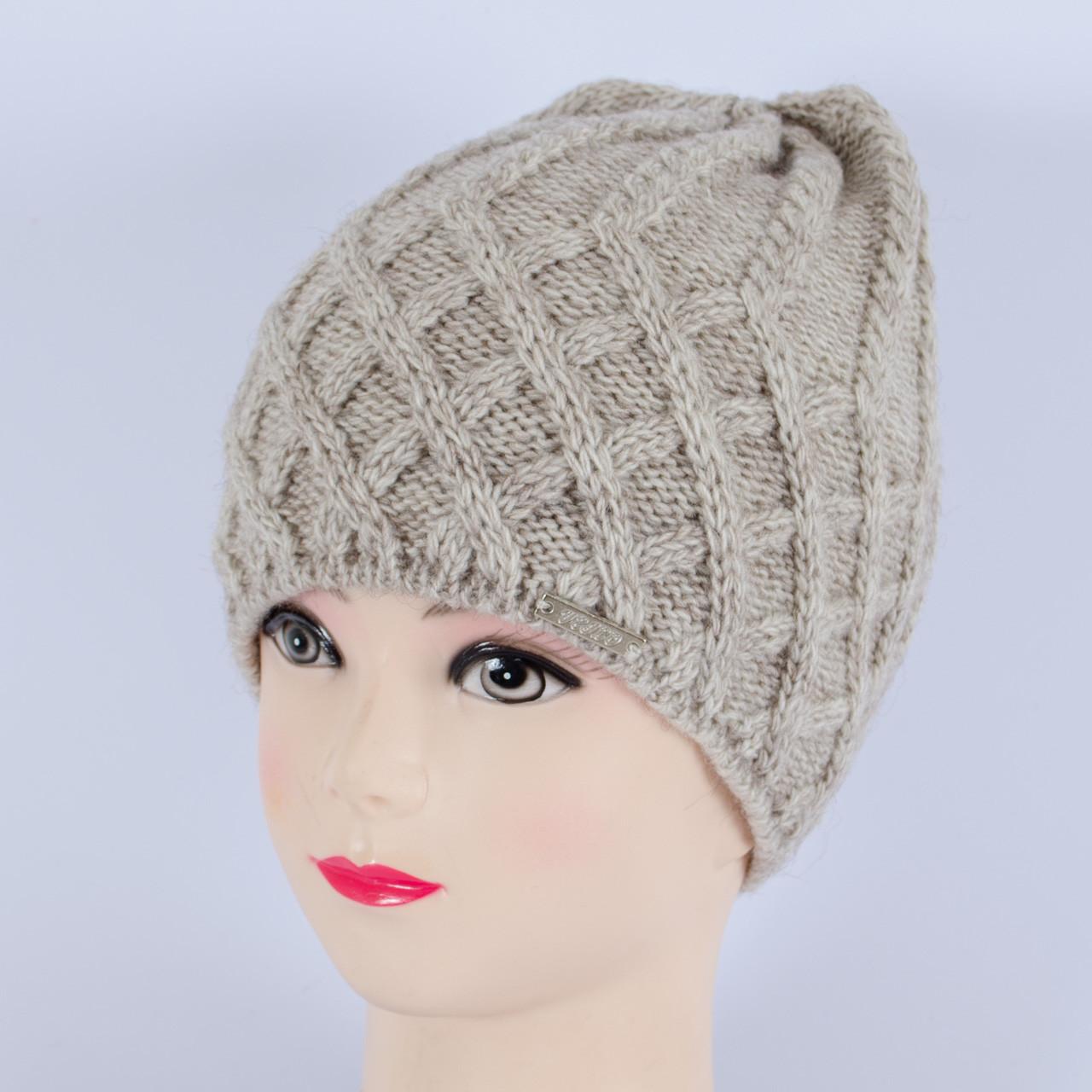 Вязаная женская шапка, (Лен)