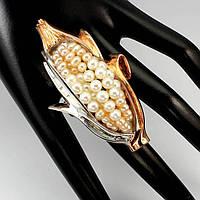 Авторское серебряное кольцо с натуральным жемчугом