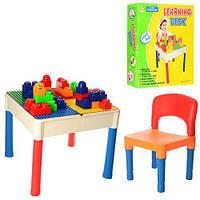 Столик (51*51*44см) игровой 3в1 (набор таблиц), стульчик(43*23см), в кор. 52*52*17см (6шт)(AR811-9M)