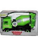 """Машина """"Middle truck"""" бетономешалка City, в кор.44*26*20 см., ТМ Wader (6шт)(39485)"""