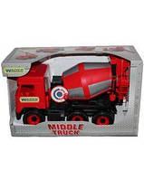 """Машина """"Middle truck"""" бетономешалка City, в кор.44*26*20 см., ТМ Wader (6шт)(39489)"""