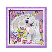 """Набор для вышивания крестиком """"Белый кролик 2"""", в пак.39*39см(K176)"""