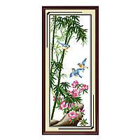 """Набор для вышивания крестиком Цветы """"Райские прицы"""", в пак. 33*79см(H105)"""