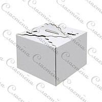 Упаковка для торта БАБОЧКА - Белая - 250х250х200 мм