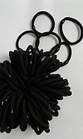 Резинка чёрная тонкая, цена за уп., в уп. 100шт., в пак. 14*13см(3323002)