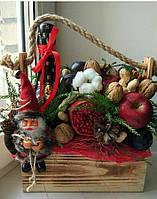 Новогодний подарок с фруктами