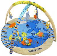 Коврик гимнастический Медведь синий, в сумке 80*60см, ТМ Baby Mix(Q/3240С-DA45)