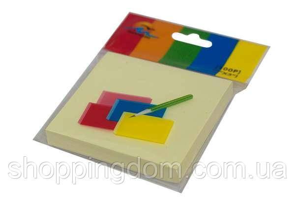 Бумага для заметок с липким слоем, микс цветов, 100 листов, 70гр., 76*76мм(3100) - ШоппингДом в Днепре