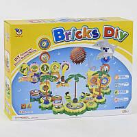 """Конструктор на шестерёнках """"DIY BRICKS"""", музыкальный, батар., 82 дет., в кор. 45*33*8см (12шт)(9805)"""