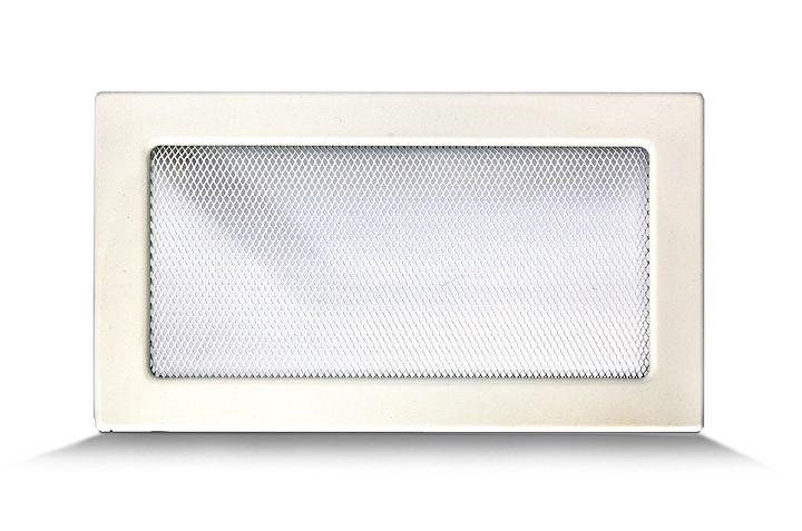 Решетка каминная 17х30 белая, вентиляционная для камина, декоративная