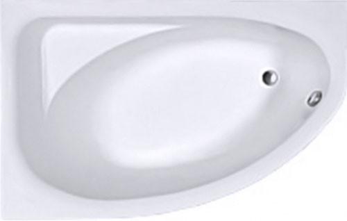 SPRING ванна асимметричная 160*100 см, левая, белая, с ножками SN7