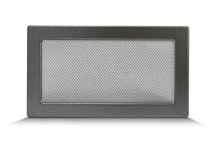 Камінна решітка 17х30 антик срібло , вентиляційна для каміна, декоративна