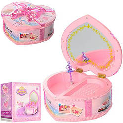 Музыкальная шкатулка, розовая (9213-1)
