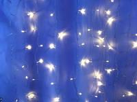 Гирлянда штора 1.8м*1.м теплый белый ( новогодняя гирлянда занавес )