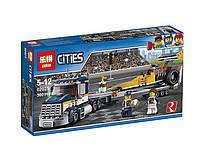 """Конструктор LEPIN """"CITIES"""", грузовик для перевозки драгстера, 360 дет., в кор.19*7см(38шт./2)(02025)"""