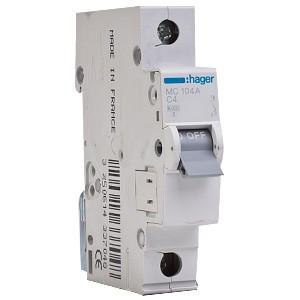 Автоматические выключатели 10kА-C, номинал 0.5-63А
