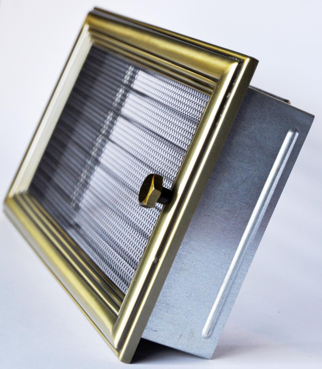 Решетка каминная 17х30 ретро с жалюзи, вентиляционная для камина, декоративная