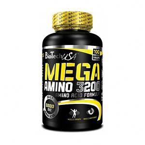 Аминокислоты BioTech Mega Amino 3200 100 tabs