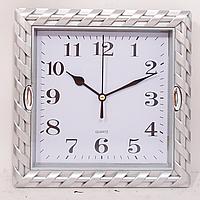 Часы настенные  квадратные серые ( 210 х 210 )