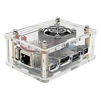 3-в-1 Orange Pi One 512MB H3 Quad-core Development Board+Акриловый корпус+Теплоотвод охлаждающего вентилятора