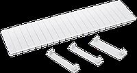 Пластиковая заглушка 12 модулей  белая
