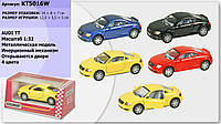"Машина мталл KT5016W ""Audi TT Coupe"", в кор. 16*8*7см /96-2/(KT5016W)"