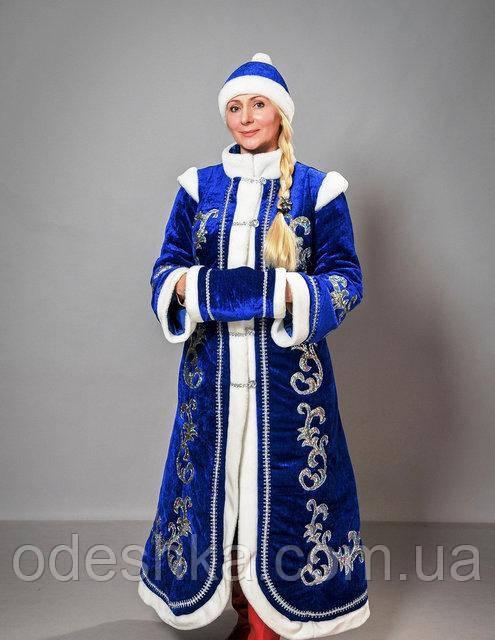 Дорослий карнавальний костюм Снігуроньки