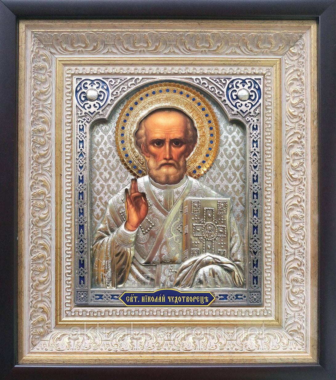 Икона Святой Николай Чудотворец к венчальной паре «Владимирская»