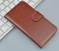 Кожаный чехол-книжка для Sony Xperia Z2 L50 D6502 D6503 D6543 коричневый