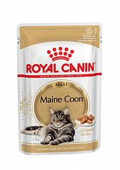 Royal Canin Роял Канін) Adult Maine Coon вологий корм для кішок породи Мейн Кун шматочки в соусі, 85 г