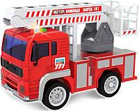 """Пожарный автомобиль свет и звук """"Варта 101"""" 19см в кор. 24*11,5*15,5см. //(12018)"""