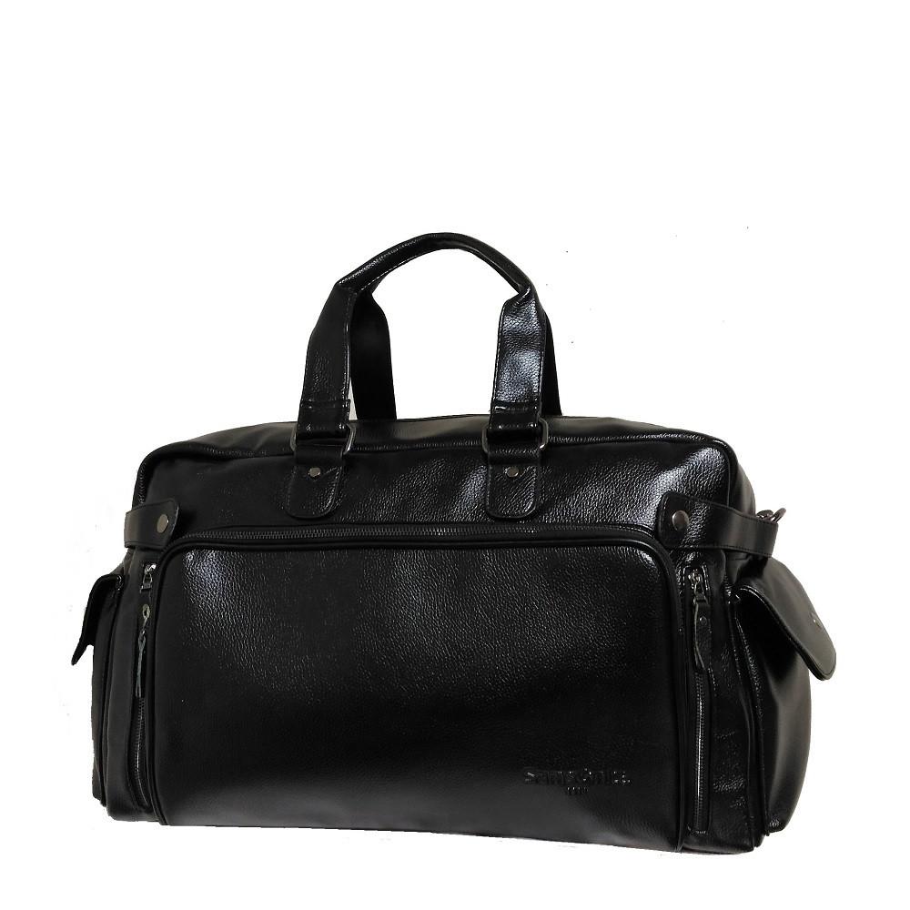 49fa5fba95a0 Дорожная сумка-саквояж копия Samsonite GS1204 один карман большая эко кожа  - e-sumki