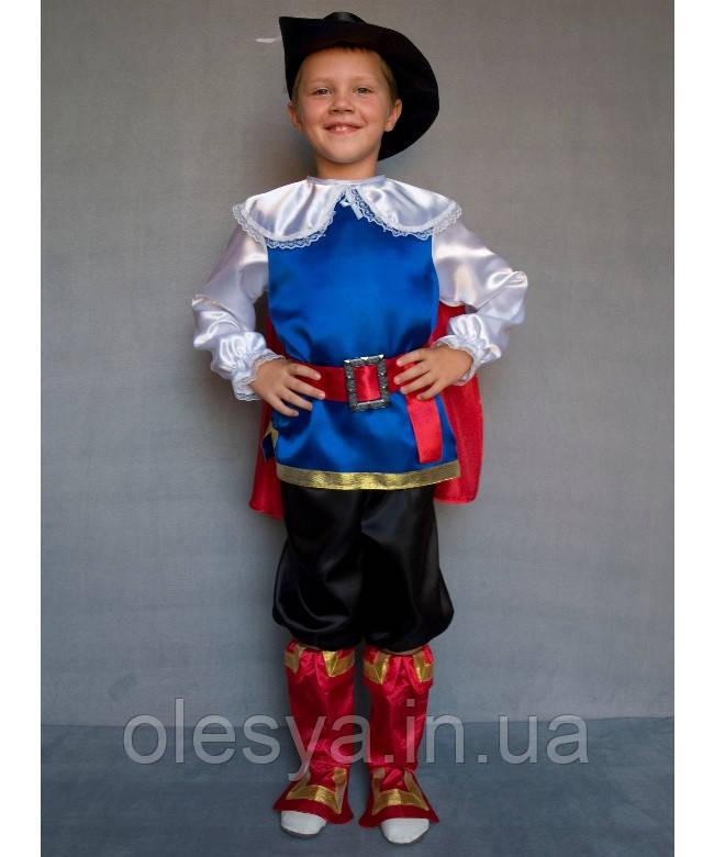 Детский карнавальный костюм для мальчика Кот в сапогах