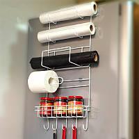 Холодильник Side Storage Rack Space Saver Кухонный шкаф Wrap Rack Органайзер Аксессуары для холодильников
