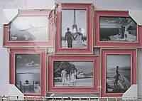 Рамка для фотографий, фотоколлаж на 6 фотографий.